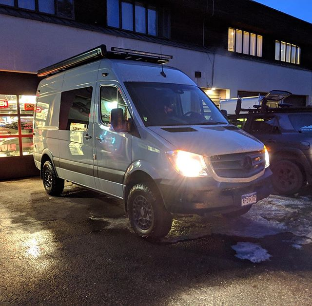 WRO ready for a night out on the town! #whiteriveroverland #aspen #sprintervanconversion #overland #colorado #travel