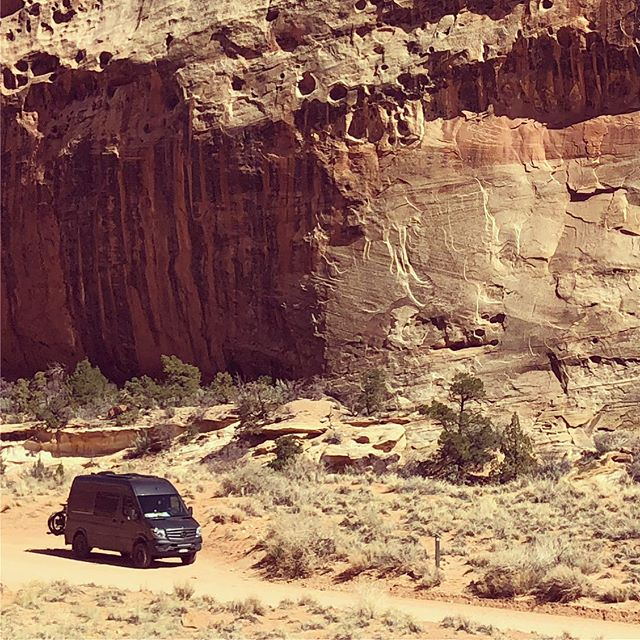 Feeling small @capitolreefnps @adventure_wagon #vanlife