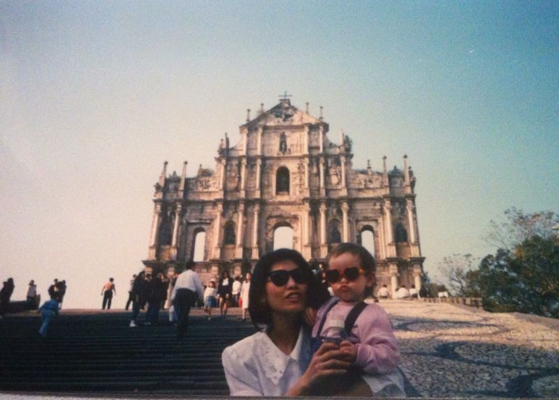 My mum and me in Macau