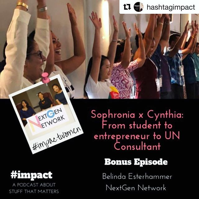 #Repost @hashtagimpact ・・・ ❗NextGen Network Bonus Episode!  Why is it important to understand people when solving problems and why do some startups fail? How does one empower people and communities when still at university? And how do you go from entrepreneur to working as a consultant for UNDP? 🔆  These and many more questions will be answered when co-Host of #impact Podcast, @belindaesterhammer Founder of Springboard Group and @nextgen_network sits down with Cynthia Cheung, Youth Economic Empowerment Consultant at @undp @youthcolab and Sophronia Cheung, summer intern at NextGen Network to hear all about starting up a purpose-driven business. 🎧Head over to @hashtagimpact to listen to the episode!  #youthcolab #undp #youth #empowernment #nextgennetwork #impact