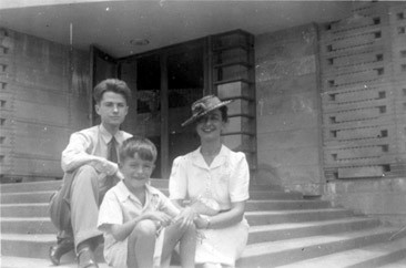 Photo of a young Paul Rudolph visiting a house designed by Frank Lloyd Wright   Photo: Paul Rudolph Heritage Foundation