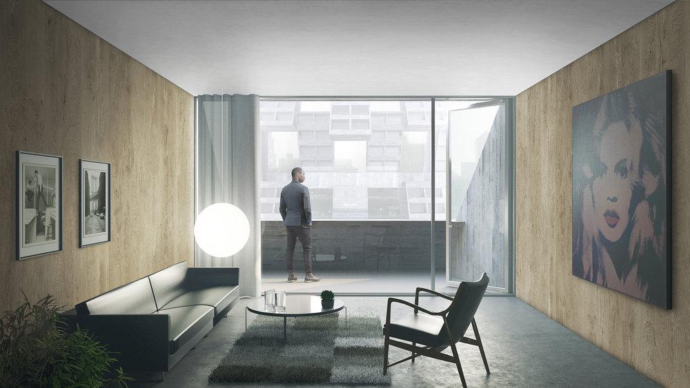 High-rise Interior.  Image: Lasse Lyhne-Hansen