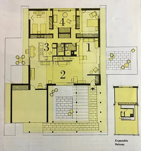 Floor Plan of the house. Image: Woman's Home Companion
