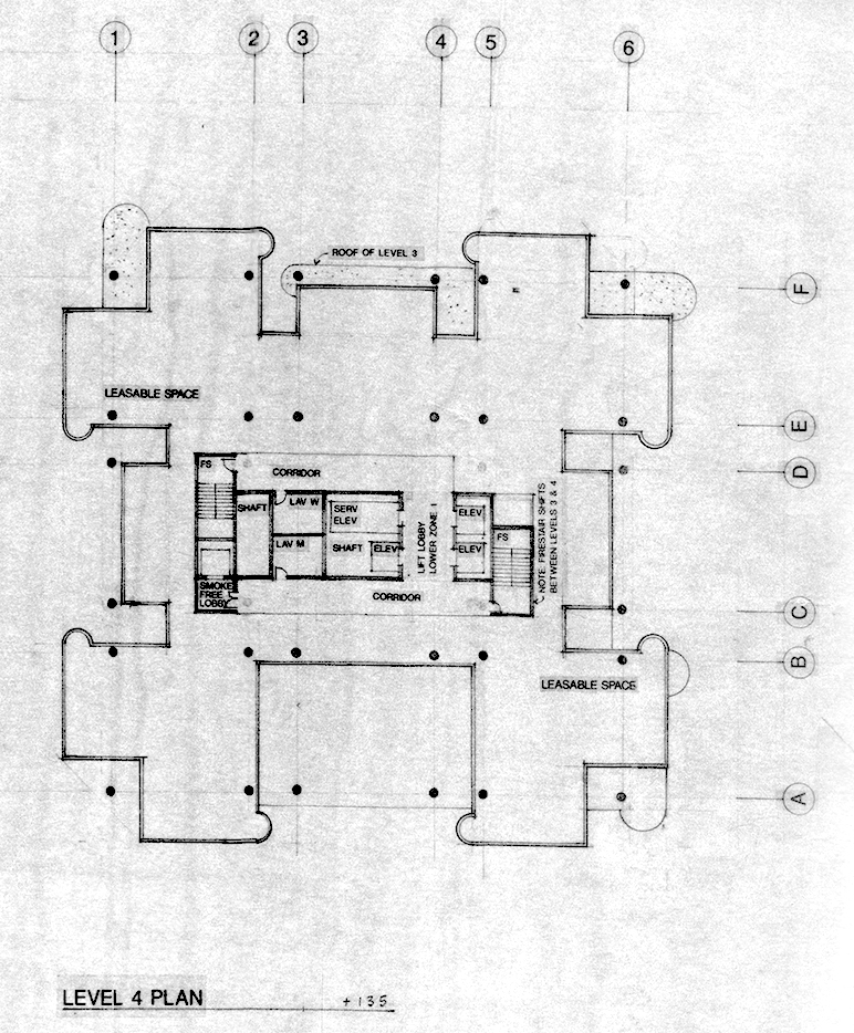 Level 4 plan. Image: Paul Rudolph Heritage Foundation Archives