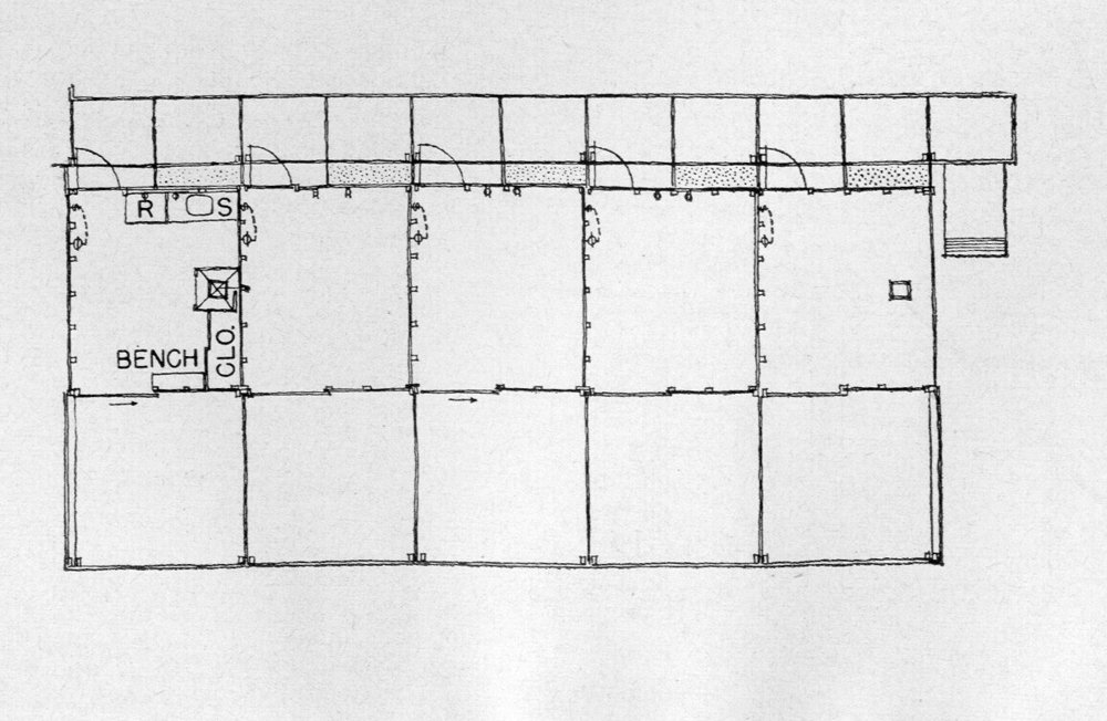 Typical Cabana Floor Plan. Image: Paul Rudolph Heritage Foundation Archives