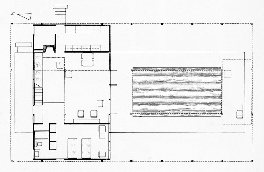 Ground Floor Plan. Image: Paul Rudolph Heritage Foundation Archives