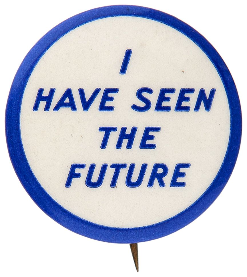 New York World's Fair Button from the General Motors Futurama Exhibit. Image: www.tedhake.com