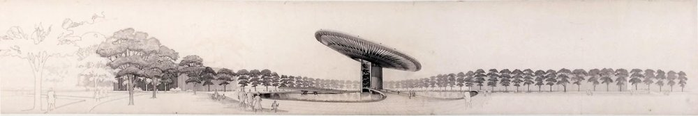Paul Rudolph's original rendering. Image: Library of Congress