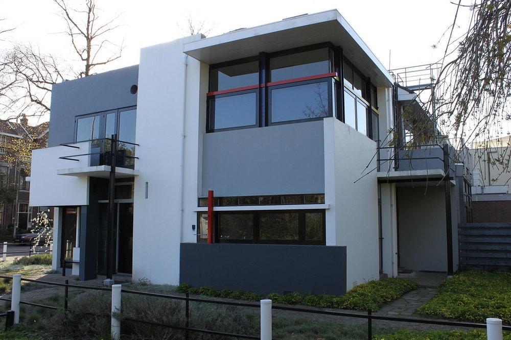 Schröder House, Utrecht, Netherlands. Photo: Husky from Wikipedia