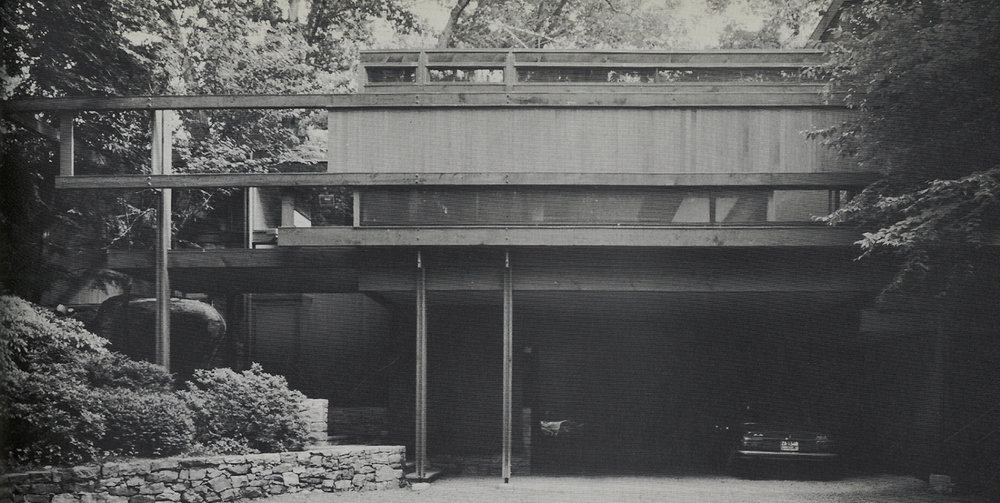 Bernhard Residence Addition by Paul Rudolph, using primarily wood elements. Photo: Paul Rudolph Heritage Foundation Archives