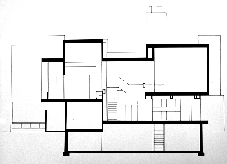 Section through the building. Image: Paul Rudolph Heritage Foundation Archives