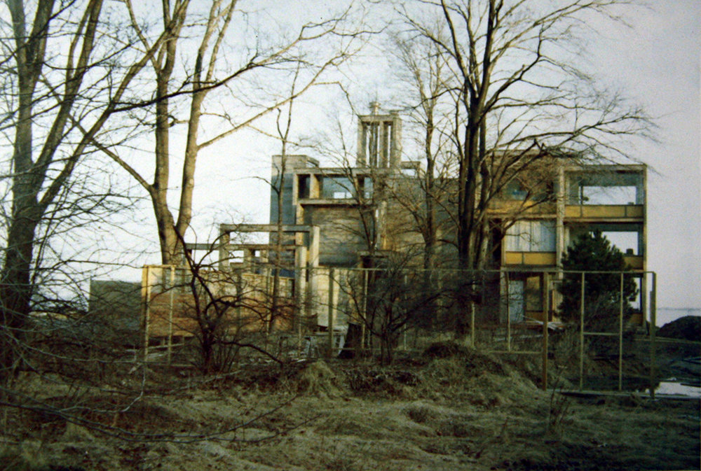 Parcells Residence under construction. Photo: Paul Rudolph Heritage Foundation Archives