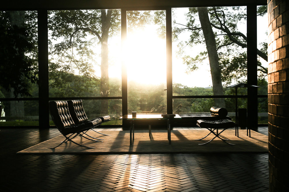 Sunset at Philip Johnson's Glass House. Photo: Arthurious.com