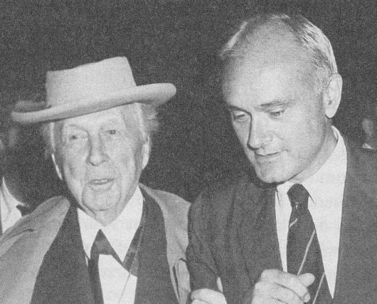 Frank Lloyd Wright (left) with Philip Johnson