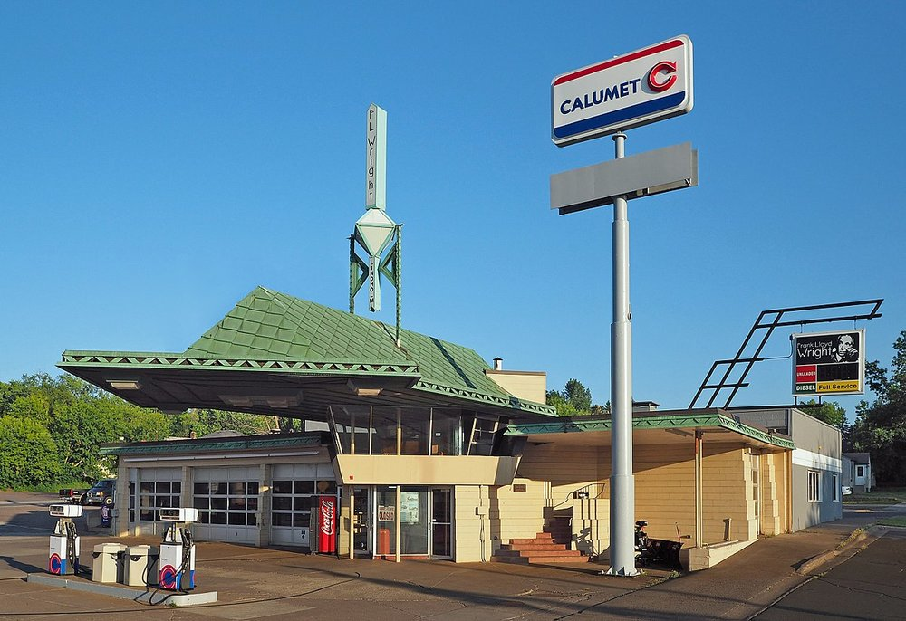 Wright's gas station, located in Cloquet, Minnesota. Image: McGhiever