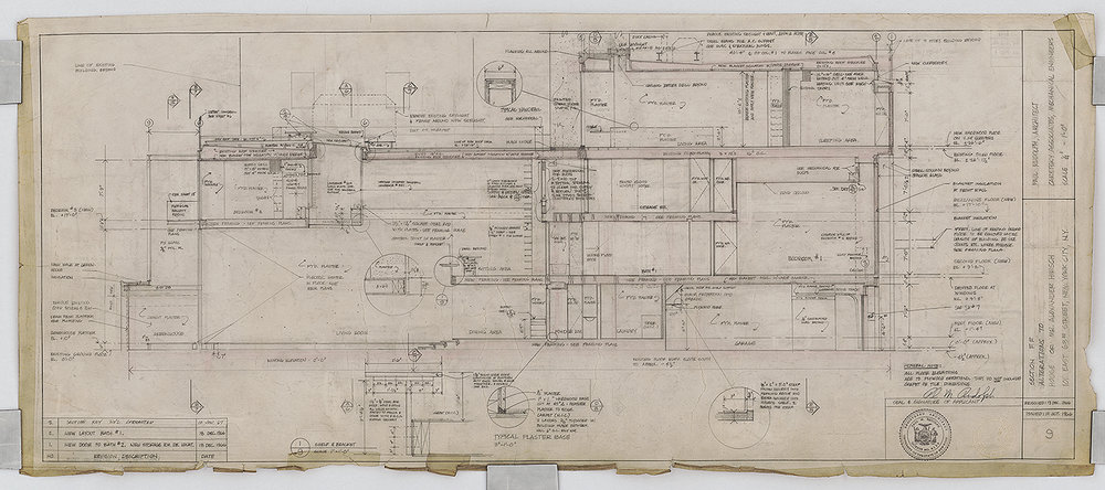 Same section from the construction drawing set