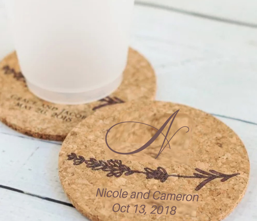 These party favors will be a perfect takeaway. I still kept it simple by only adding you names, the first initial of the last name Nickerson, and your wedding date.