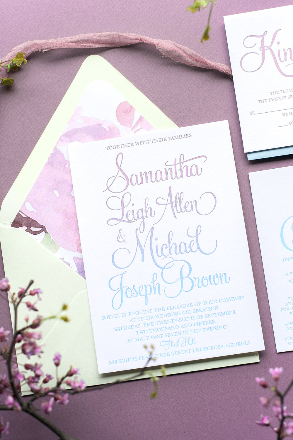Example of the ombre/ letterpress effect -