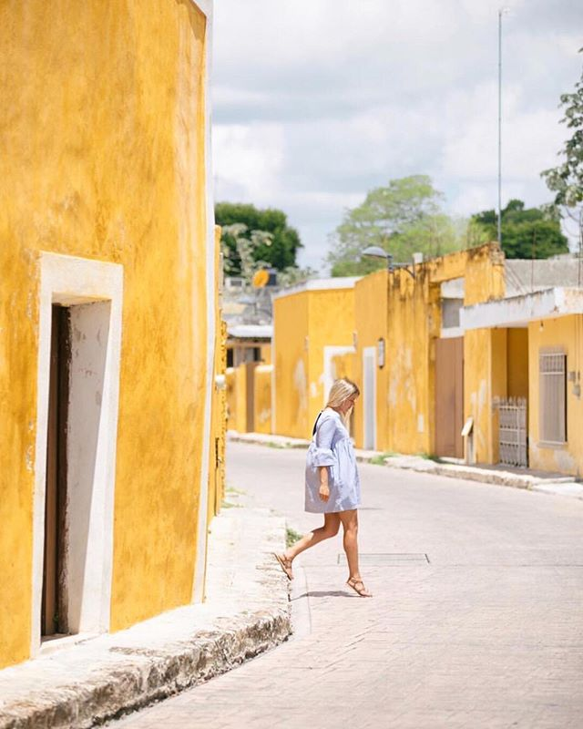 @Andreadabene found a whole town painted yellow while traveling in #Mexico and now we're dying to go 😫 #TooManyPlacesTooLittleTime . . .  #acornmag #traveldeeper #cntraveler #tinyatlas