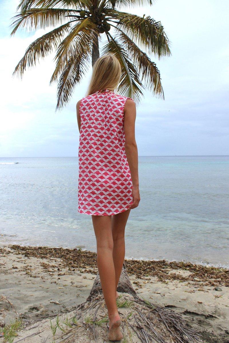 dff37ae124 womens-linen-beach-dress-manta-ray-red-back-