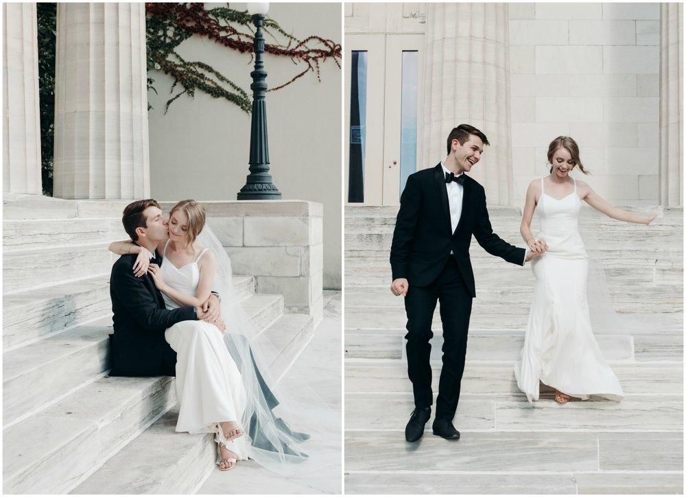 jake-kendra-erie-wedding-art-museum-steps.jpg