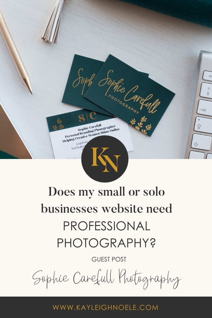 Does my website need professional photography? Profile: Sophie