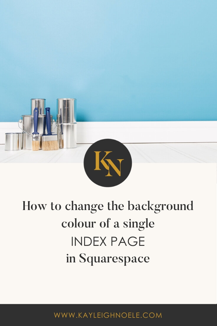 How To Change The Background Colour Of An Index Page in