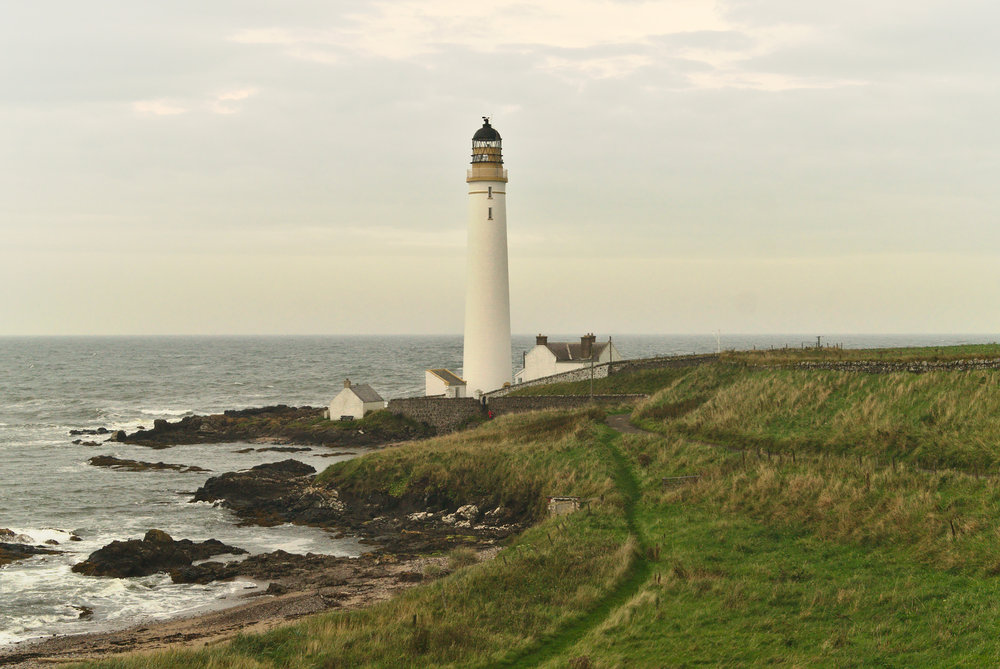 Scurdie Ness lighthouse - luckily this beautiful, little lighthouse was just a quick bus trip away from where I was studying