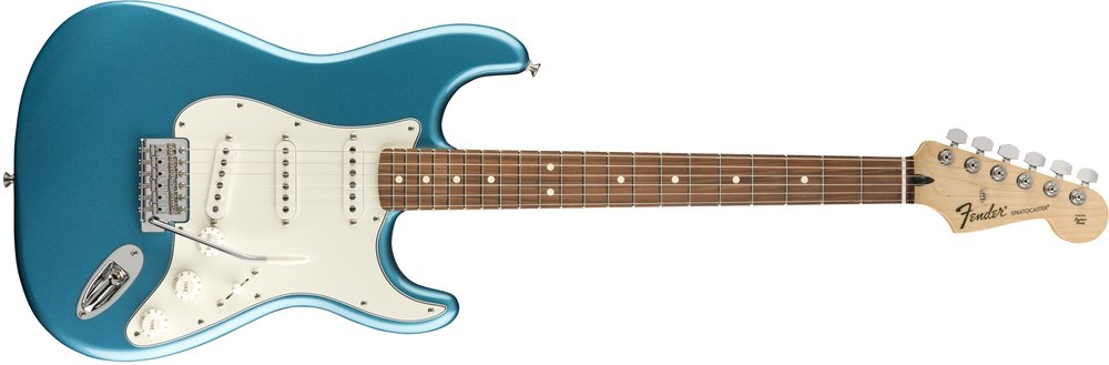 "Standard Stratocaster - $675 + tax & shipping+$350 2-Hour Online Introductory Session with JesseAn elegant and affordable classic with a great combination of traditional design and contemporary features:  Tinted neck with ""C"" profile, Rosewood or maple fingerboard with 21 medium jumbo frets, Three single-coil pickups with five-way switching, Shielded body cavities, Parchment pickguard, Vintage-style synchronized tremolo bridge with high-mass block, '70s-style headstock logo"