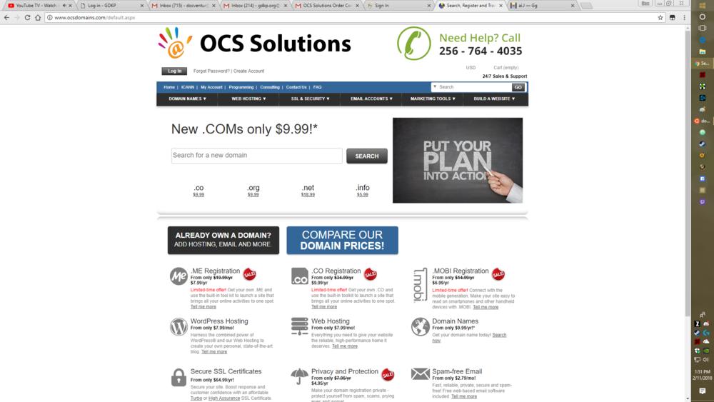 OCS solutions -