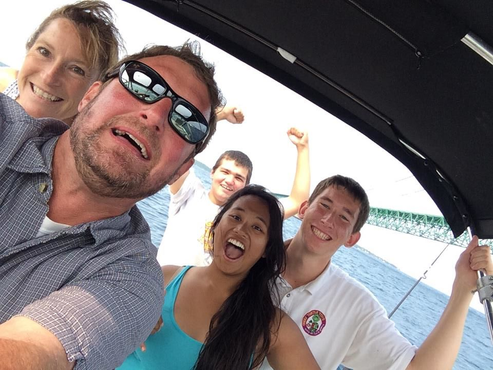 COME PLAY WITH US!  THE GREAT TURTLE TOYS TEAM ENJOYS A SUNNY DAY ON THE WATER.