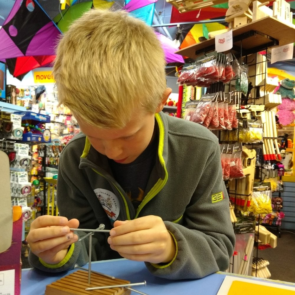 Great Turtle Toys has a unique selection of kites, toys, and games. customers love playing with the toys we have open in the store. Come play with us!
