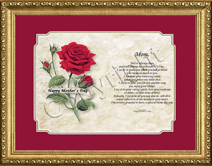 Mothers Day Red Rose in frame.png