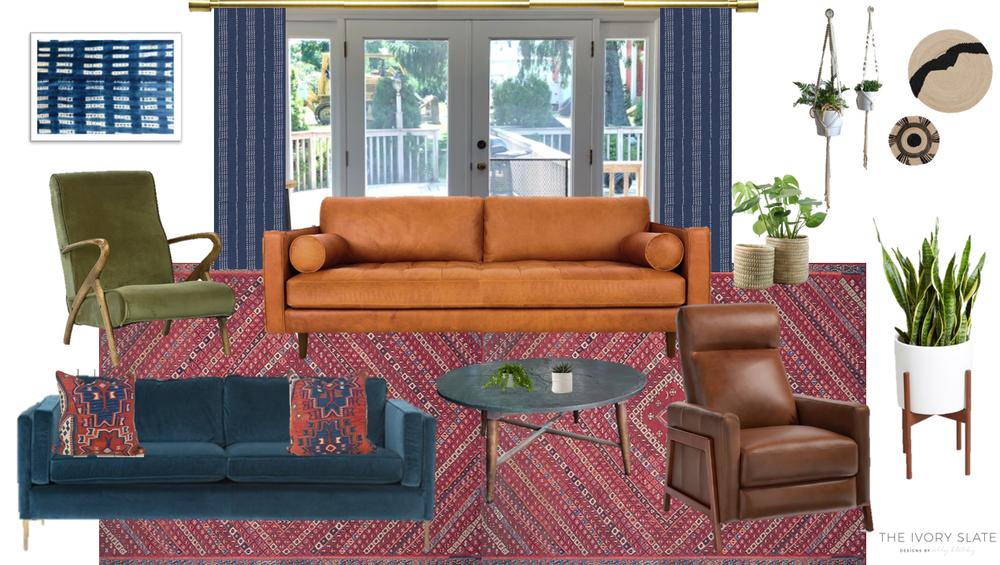 Living room mood board prepared during design process