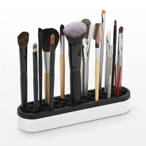 Beauty Organizer and Display:  This beauty tool organizer is perfect for displaying makeup brushes, lipsticks, tweezers and more. The flexible silicone allows items of almost any size to be stored neatly and upright for easy access.