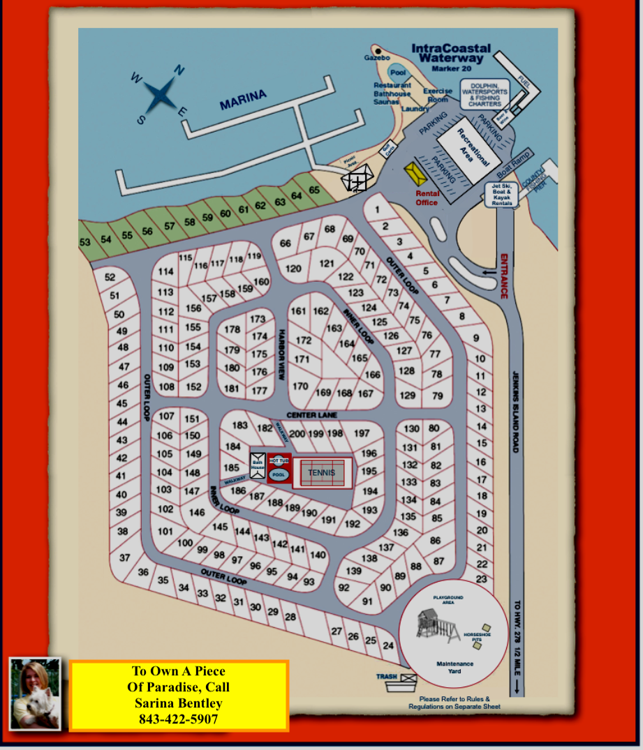 Site Map With Amenities