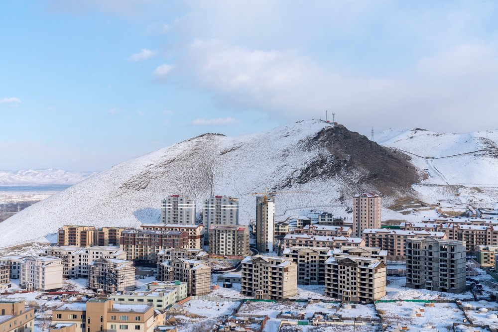 New housing developments are a common sight in the city of Ulaan Baatar.