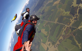 Free Fall  - The ultimate thrill is just 2 minutes away at Vermont Skydiving Adventures.
