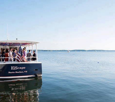Go Cruisin' - aboard Basin Harbor's vessel The EScape...or really wow your bridal party with a rehearsal dinner cruise! Photo credit: Basin Harbor