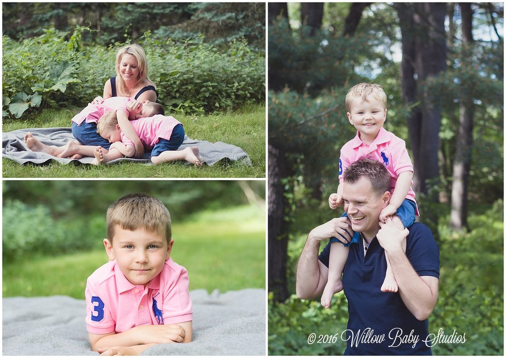 set-of-three-photos-kids-playing-on-mom-boy-on-dads-shoulders-big-brother-laying-on-tummy