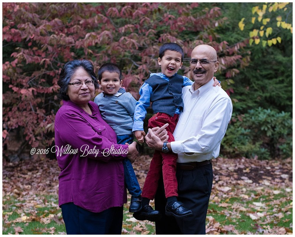 two silly boys with their grandparents