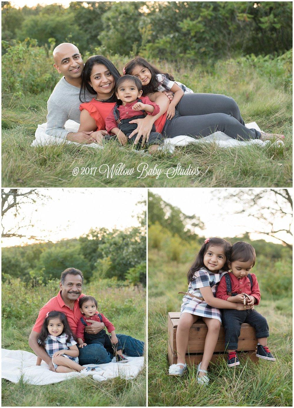 collage of three family photos