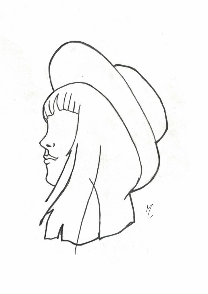 Hat worn at angle