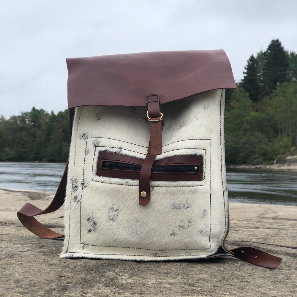 sac de cuir - fait à la main à Montréal