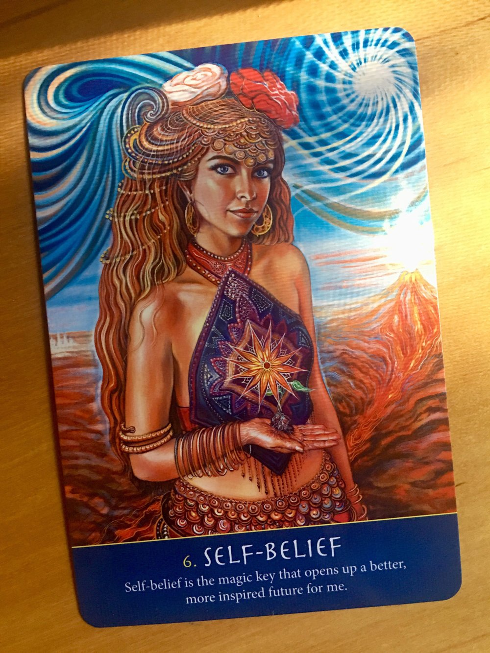 The oracle card I drew for today's training… - What stands out or speaks to you in the image and message? What feelings does the image stir in you? What inner response arises in you? How might that response be an answer to your question or intention?