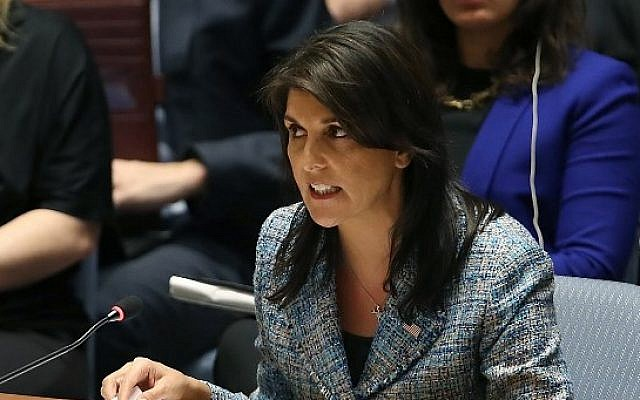 US Ambassador to the United Nations, Nikki Haley