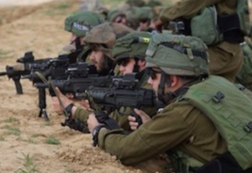 Israeli snipers seen on the border with Gaza during the Great March of Return, March 30, 2018.