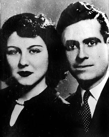 The author'€™s grandmother and grandfather as newlyweds, Beirut, 1952.