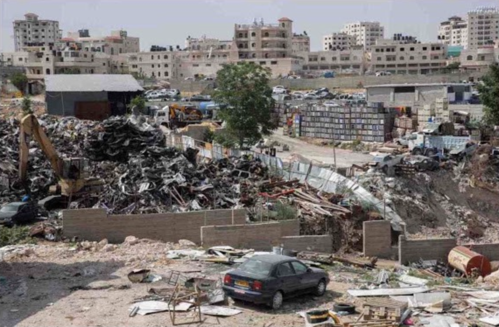The junkyard next to the potential new location of Khan al Ahmar