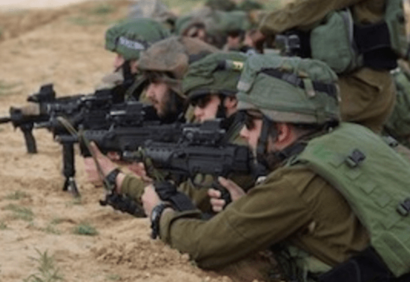 Israeli snipers seen on the Gaza border during the Great March of Return, March 30, 2018.
